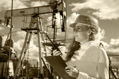 Oil and gas industry engineer. Royalty Free Stock Photo
