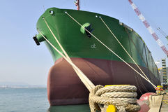 Oil and gas industry - grude oil tanker. Tanker crude oil carrier ship designed for transporting grude oil near jetty Royalty Free Stock Images