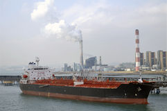 Oil and gas industry - grude oil tanker. Tanker crude oil carrier ship designed for transporting grude oil Royalty Free Stock Photos