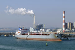 Oil and gas industry - grude oil tanker. Tanker crude oil carrier ship designed for transporting grude oil Stock Image