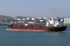Oil and gas industry - grude oil tanker. Tanker crude oil carrier ship designed for transporting grude oil Stock Images