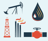 Oil and gas industry. Illustration of oil and gas industry Royalty Free Stock Image