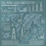 Oil and Gas Industry Infographic Elements Royalty Free Stock Photo
