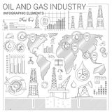 Oil and Gas Industry Infographic Elements Royalty Free Stock Image