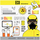 Oil and gas industry infographics, extraction Royalty Free Stock Image