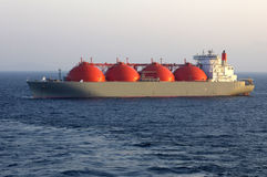 Oil and gas industry - LNG tanker royalty free stock photo