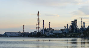 Oil & gas industry. Refinery, petrochemical plant at Greece stock photos
