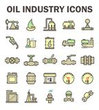 Oil industry icon. Oil and gas industry vector icon sets Stock Photography