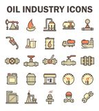 Oil industry icon. Oil and gas industry vector icon sets Stock Image