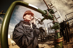 Oil and gas industry worker. Stock Photography