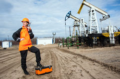 Oil and gas industry worker. Royalty Free Stock Images