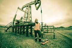 Oil and gas industry worker. Royalty Free Stock Image