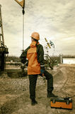 Oil and gas industry worker. Stock Image