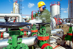 Oil and Gas Industry Worker Stock Photography