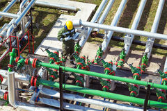 Oil and Gas Industry Worker Royalty Free Stock Images