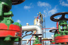 Oil and Gas Industry Worker stock image