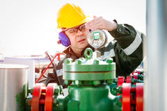 Oil and Gas Industry Worker royalty free stock image