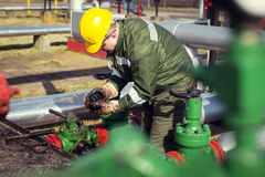 Oil and Gas Industry Worker Royalty Free Stock Photography