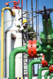 Oil and Gas Industry Worker Stock Images