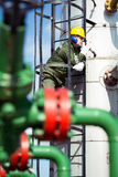 Oil and Gas Industry Worker Stock Photo
