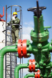 Oil and Gas Industry Worker Royalty Free Stock Photo