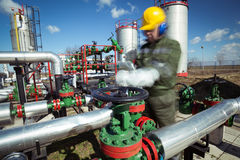 Oil and Gas Industry Worker Stock Photos
