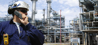 Oil and gas inustry, panoramic view Stock Photo
