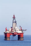 Oil and Gas. Offshore oil and gas drilling platform Stock Images