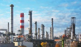 Oil and gas petrochemical plant, Industry factory.  royalty free stock images
