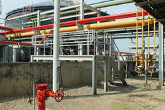 Oil and Gas pipe installation Royalty Free Stock Images