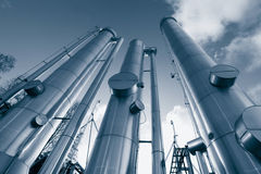 Oil and gas pipes construction Royalty Free Stock Photos