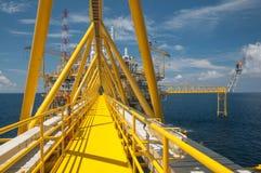 Oil and gas platform or Construction platform Stock Images