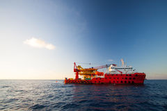Oil and gas platform in the gulf or the sea, Offshore oil and rig construction Platform Stock Photography