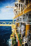 Oil and gas platform in the gulf or the sea, The world energy, O. Ffshore oil and rig construction Royalty Free Stock Images
