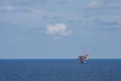 Oil and gas platform in the gulf or the sea, The world energy, Offshore oil and rig construction.  Stock Image