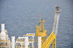 Oil and gas platform in the gulf or the sea, The world energy, Offshore oil and rig construction Stock Photo