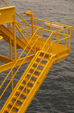 Oil and gas platform in the gulf or the sea. The world energy, Offshore oil and rig construction Royalty Free Stock Image