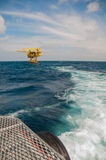 Oil and gas platform in the gulf or the sea Stock Images