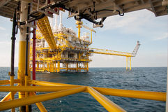 Oil and gas platform in the gulf Royalty Free Stock Photo