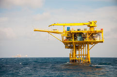 Oil and gas platform in the gulf Stock Photo