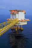 Oil and gas platform in the gulf or the sea, The world energy. Offshore oil and rig construction Royalty Free Stock Photography