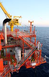 Oil and gas platform in the gulf . Oil and gas platform in the gulf or the sea, The world energy, Offshore oil and rig construction Royalty Free Stock Photo