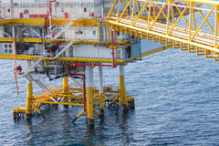 Oil and gas platform in the gulf or the sea Stock Photo