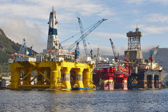 Oil and gas platform in Norway. Energy industry. Petroleum. Exploration Stock Photo