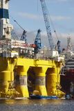 Oil and gas platform in Norway. Energy industry. Petroleum Stock Images
