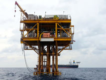 Oil and gas platform. Offshore oil and gas platform Stock Photos