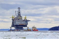 Oil and Gas platform Stock Images
