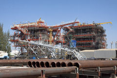 Oil and gas platform. Oil and gas platform under construction Stock Image