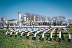 Oil and gas processing plant Stock Image
