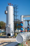 Oil and gas processing plant Stock Photography